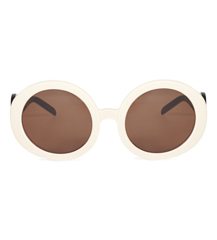 WILDFOX Bianca oversized retro sunglasses (Cream-black/brown