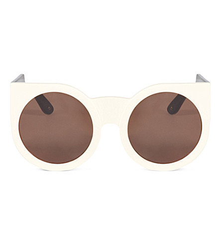 WILDFOX Granny sunglasses (Cream-black/brown
