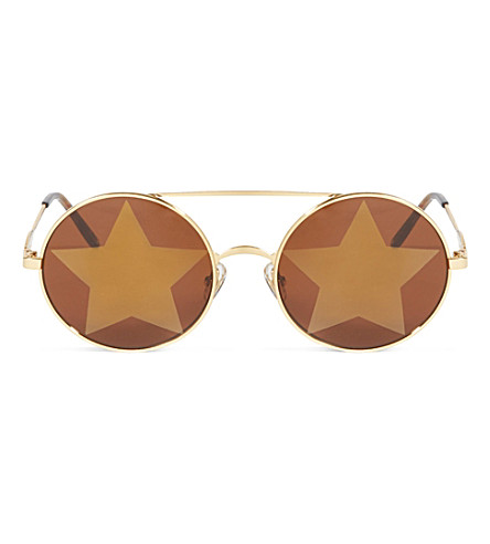 WILDFOX Starstruck sunglasses (Gold/gold+mirror