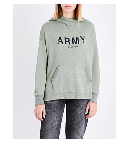 SUNDRY Army of Lovers cotton-blend hoody (Cactus