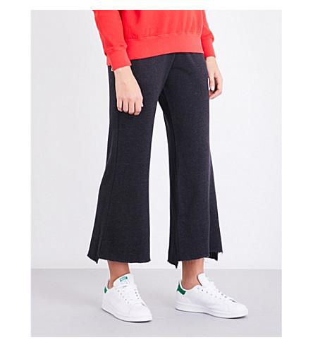 SUNDRY Flared cotton-blend jogging bottoms (Soft+black