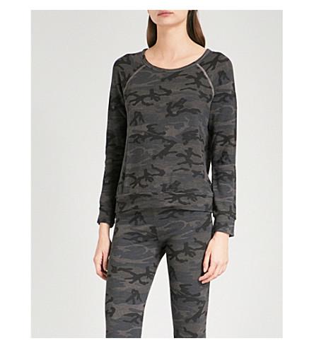SUNDRY Camouflage-print jersey sweatshirt (Charcoal