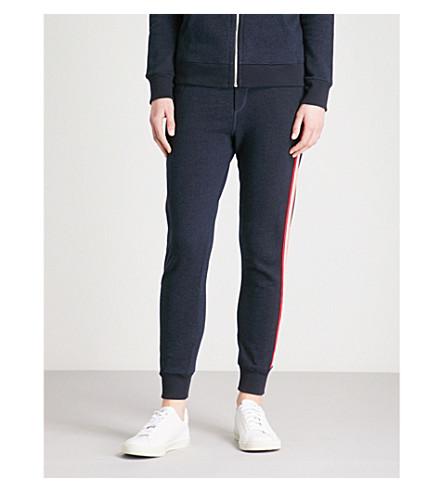 SUNDRY Striped-sides stretch-jersey jogging bottoms (Navy