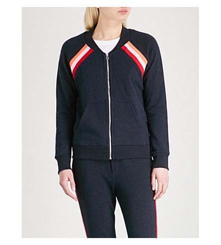 SUNDRY Stripe-detailed cotton-blend jacket (Navy