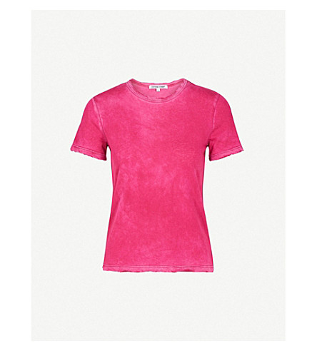 COTTON CITIZEN Classic cotton-jersey T-shirt (Fuchsia