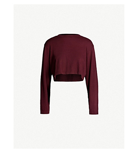 COTTON CITIZEN Tokyo cropped cotton jumper (Sangria