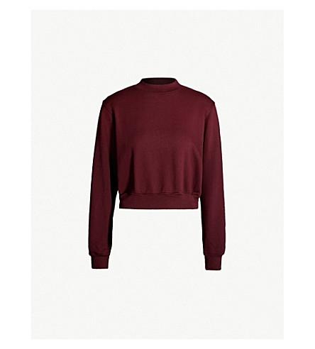 COTTON CITIZEN Milan cropped cotton-jersey sweatshirt (Sangria