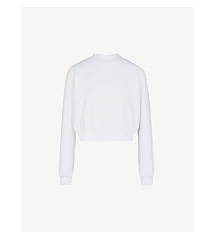 COTTON CITIZEN Milan cropped cotton-jersey sweatshirt (White