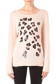 WILDFOX Leopard spot knitted jumper