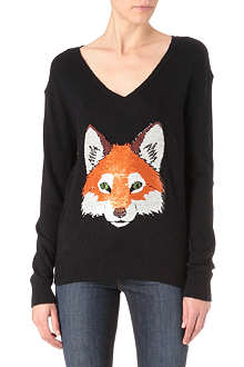 WILDFOX Fox face knitted jumper