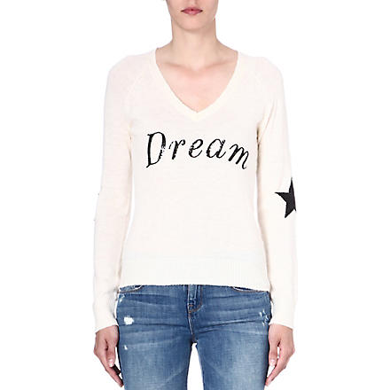 WILDFOX Dream knitted jumper (Champagne
