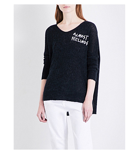 WILDFOX Almost Feelings knitted jumper (Black