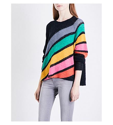 WILDFOX Mirage wool-blend jumper (Black