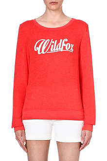 WILDFOX Logo-detailed jersey sweatshirt