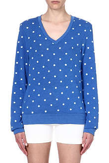 WILDFOX Polka-dot sweatshirt