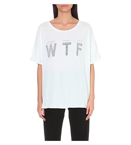 WILDFOX WTF cotton T-shirt (Clean white