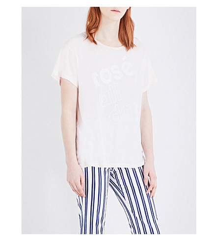 WILDFOX Rosé All Day cotton T-shirt (Sea shell pink