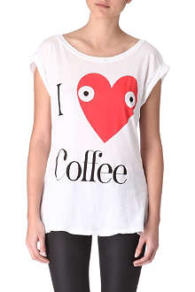 WILDFOX I Heart Coffee t-shirt