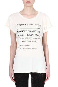 WILDFOX Hippie island message t-shirt