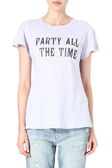 WILDFOX Party all the time printed t-shirt