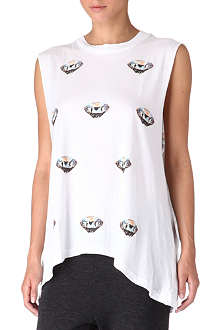 WILDFOX Diamond-print vest