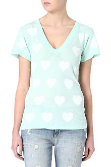 WILDFOX Heart printed t-shirt