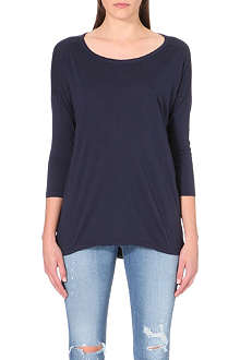 SUNDRY Scoop-neck jersey top