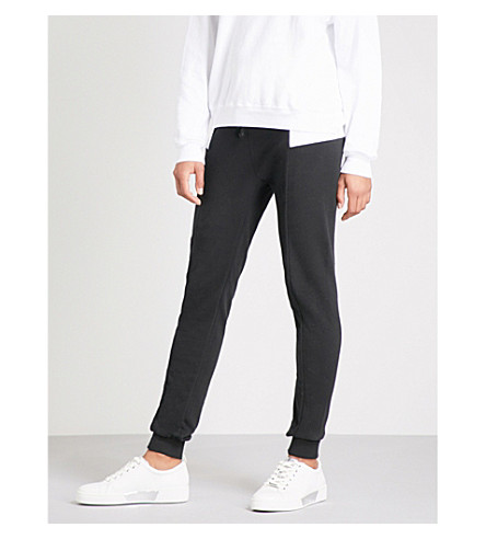 WILDFOX Contrasting-panel skinny cotton-jersey jogging bottoms (Black+multi