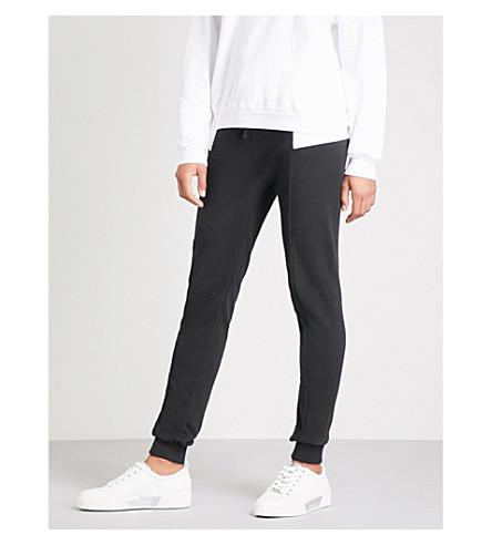 WILDFOX 对比面板紧身平纹针织棉慢跑裤 (黑色 + 多