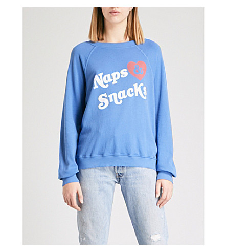 WILDFOX Naps & Snacks jersey sweatshirt (Piscine+blue