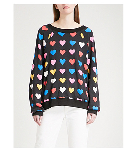 WILDFOX Have A Heart cotton-jersey sweatshirt (Black