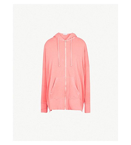 WILDFOX Charmed cotton-jersey hoody (Pigment+red+flare