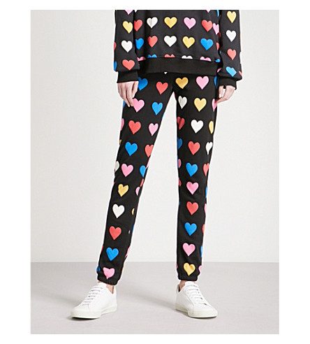 WILDFOX Have A Heart cotton-jersey jogging bottoms (Black