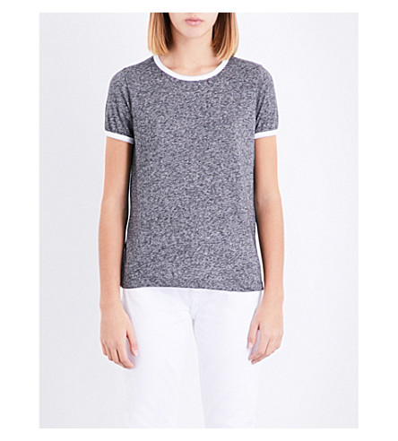 WILDFOX Johnny Ringer jersey T-shirt (Heathered+black