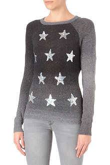 WILDFOX Stargazer sequin-embellished jumper
