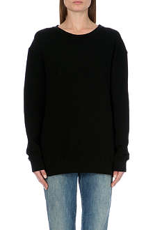 SUNDRY Zip-detail cotton-jersey sweatshirt
