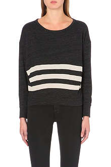 SUNDRY Striped jersey sweatshirt