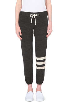 SUNDRY Stripe-detail jersey jogging bottoms
