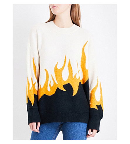 WILDFOX Fired Up knitted jumper (Multi
