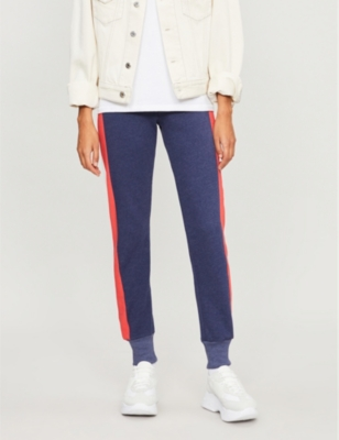 WILDFOX Jack Jogger Side-Stripe Trousers in Oxford