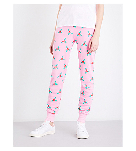 WILDFOX Under The Mistletoe jersey jogging bottoms (Dream+house