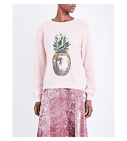 WILDFOX Disco pineapple jersey sweatshirt (Rose smoke