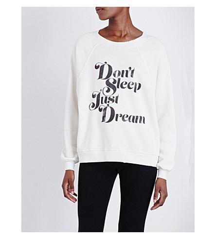 WILDFOX Don't sleep just dream jersey sweatshirt (Alabaster