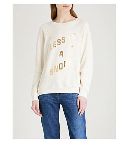 WILDFOX Less Is A Snore cotton-blend jumper (Vintage+lace
