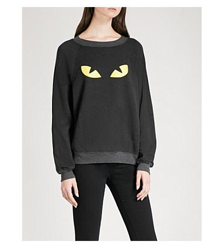 WILDFOX I'm A Cat jersey sweatshirt (Black