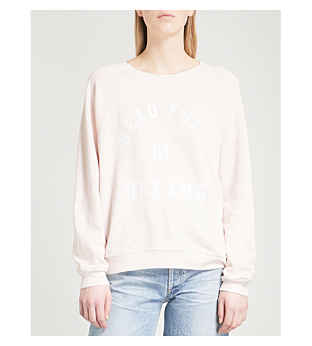 WILDFOX Head Full of Dreams jersey jumper (Iced+lavender