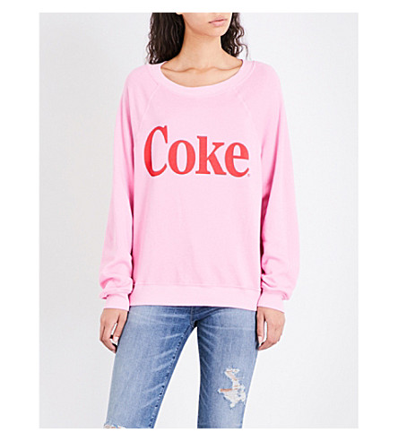 WILDFOX Classic Coke jersey sweatshirt (Dream+house