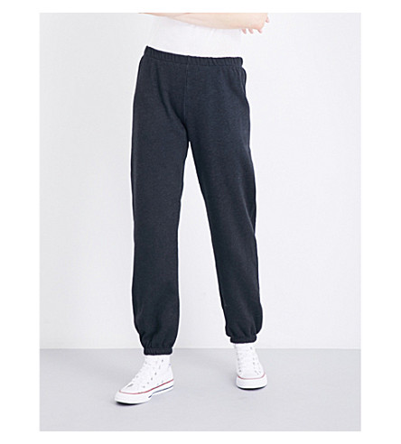 WILDFOX Easy cotton-blend jogging bottoms (Clean+black