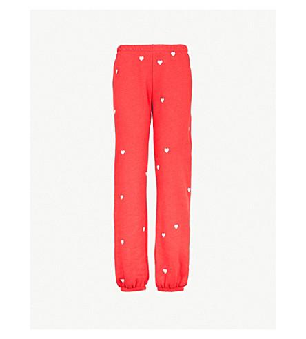 WILDFOX Lovestruck cotton-jersey jogging bottoms (Scarlet