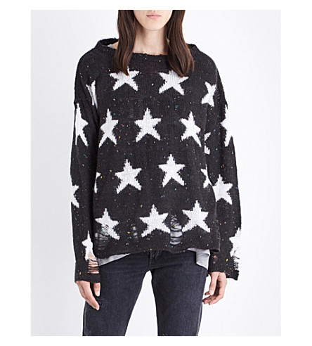 WILDFOX Seeing Stars knitted jumper (Black